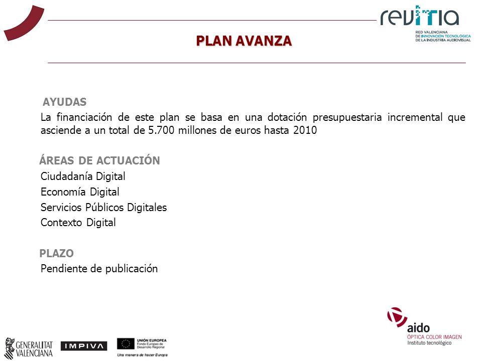 AYUDAS La financiación de este plan se basa en una dotación presupuestaria incremental que asciende a un total de 5.700 millones de euros hasta 2010 Á