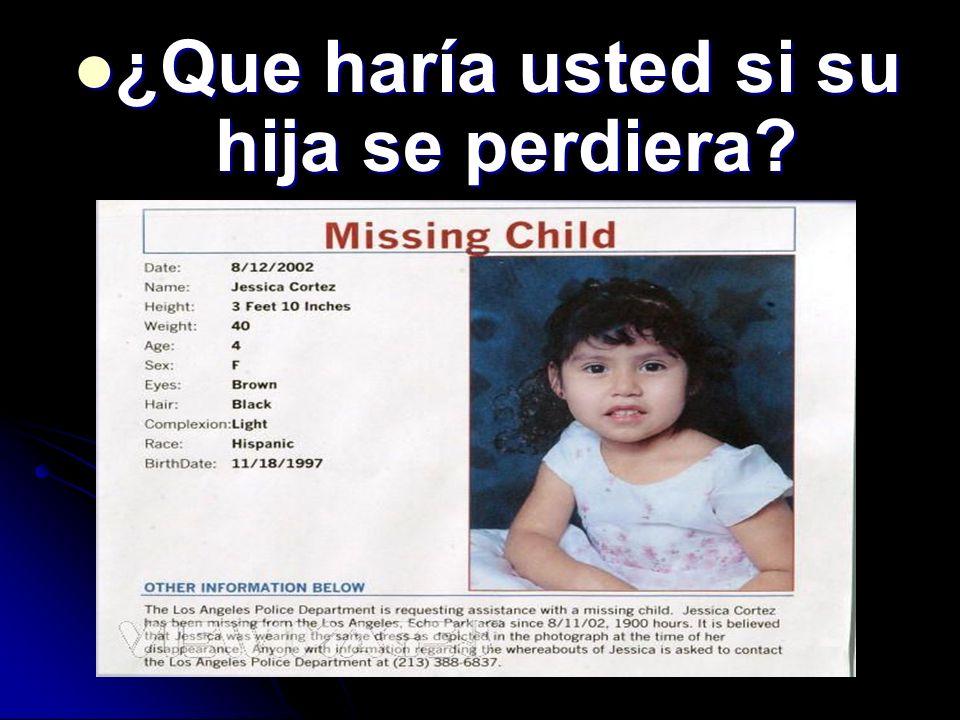 ¿Que haría usted si su hija se perdiera? ¿Que haría usted si su hija se perdiera?