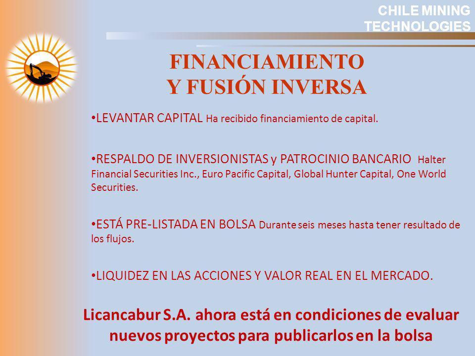 LEVANTAR CAPITAL Ha recibido financiamiento de capital. RESPALDO DE INVERSIONISTAS y PATROCINIO BANCARIO Halter Financial Securities Inc., Euro Pacifi