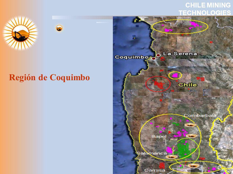 UBICACIÓN DE LOS DISTRITOS y PROYECCIÓN Licancabur (CMTI) CHILE MINING TECHNOLOGIES
