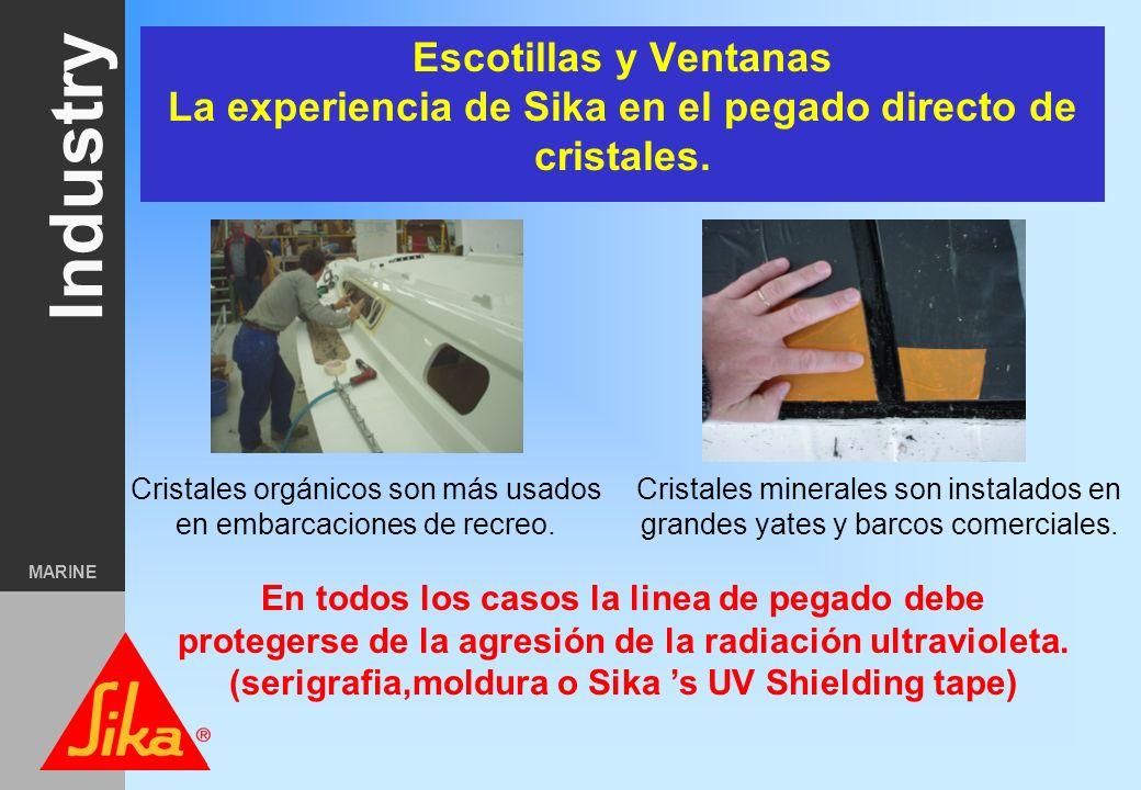 Industry MARINE Pegado Semiestructural Pegado directo de cristales en buques comerciales Pegado de la quilla Fijación de mamparos o cabinas prefabrica