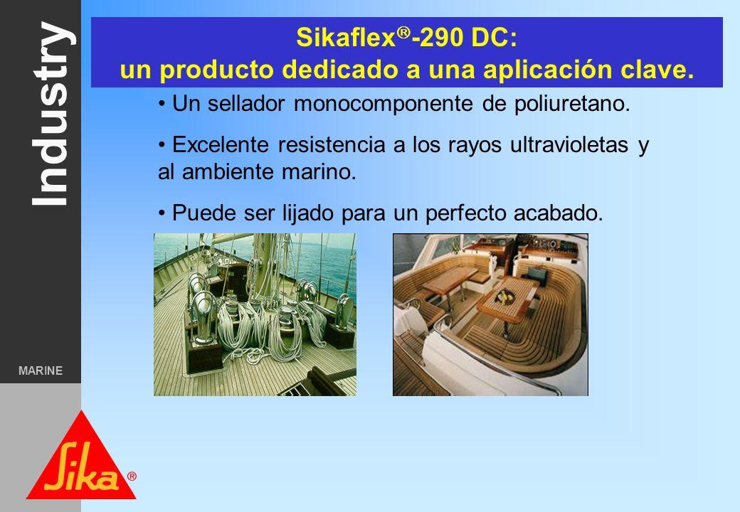 Industry MARINE Características de la teka No se pudre (larga vida) Estética sin comparación Contribuye a reforzar la estructura de la embarcación. Me