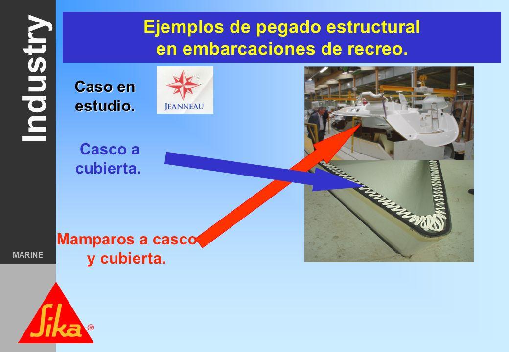 Industry MARINE Pegado Estructural Casco a Cubierta. Mamparos estructurales a Casco. Pegado de techos sobre espacios de habilitación en fast ferries.