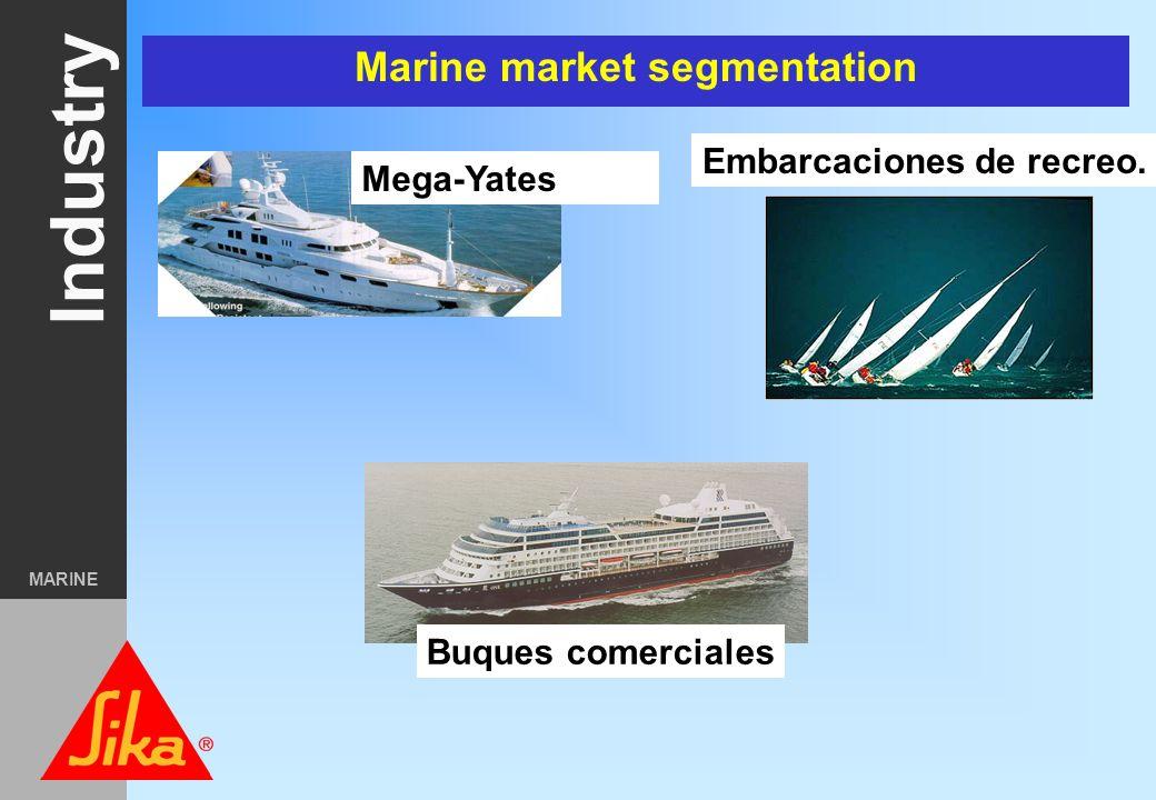 Industry MARINE The main marketfields of Sika Industry Marino Electrodomés- ticos y Equipos Auxiliares. Transporte Componentes de edificación Automóvi