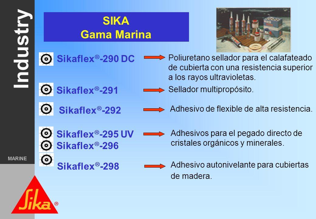 Industry MARINE Marine market segmentation Mega-Yates Embarcaciones de recreo. Buques comerciales