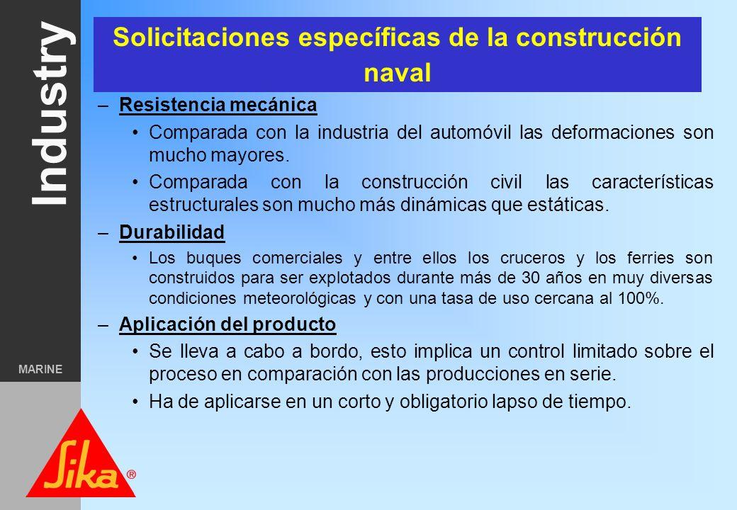 Industry MARINE Distribución uniforme de esfuerzos, eliminación de la concentración de esfuerzos Tolerancias de producción más amplias Buena resistenc