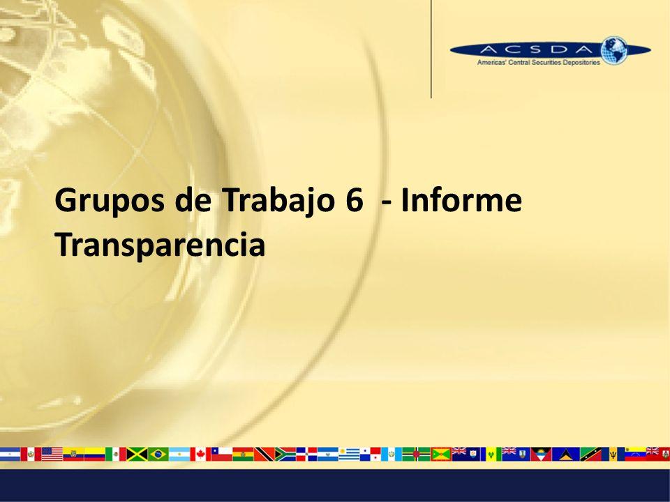 Grupos de Trabajo 6 - Informe Transparencia