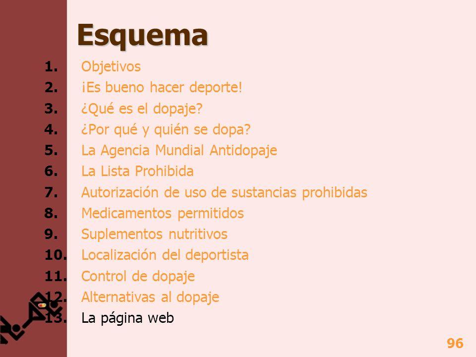 97 13. La página Web http://deportelimpio.fundacionmiguelindurain.com