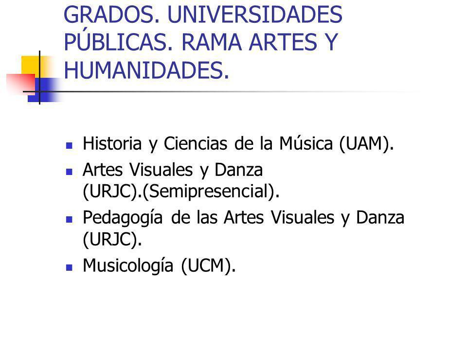 CENTROS PRIVADOS.GRADOS UNIVERSITARIOS.CENTRO UNIVERSITARIO DE TECNOLOGÍA Y ARTE DIGITAL.(U-TAD).