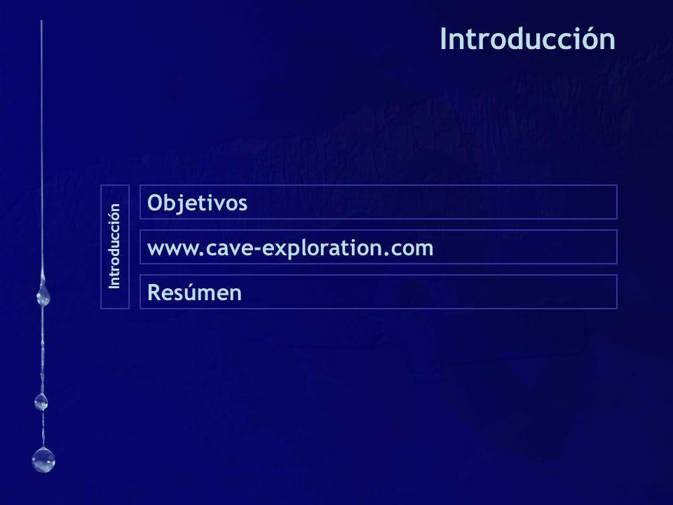 Introducción Objetivos www.cave-exploration.com Resúmen