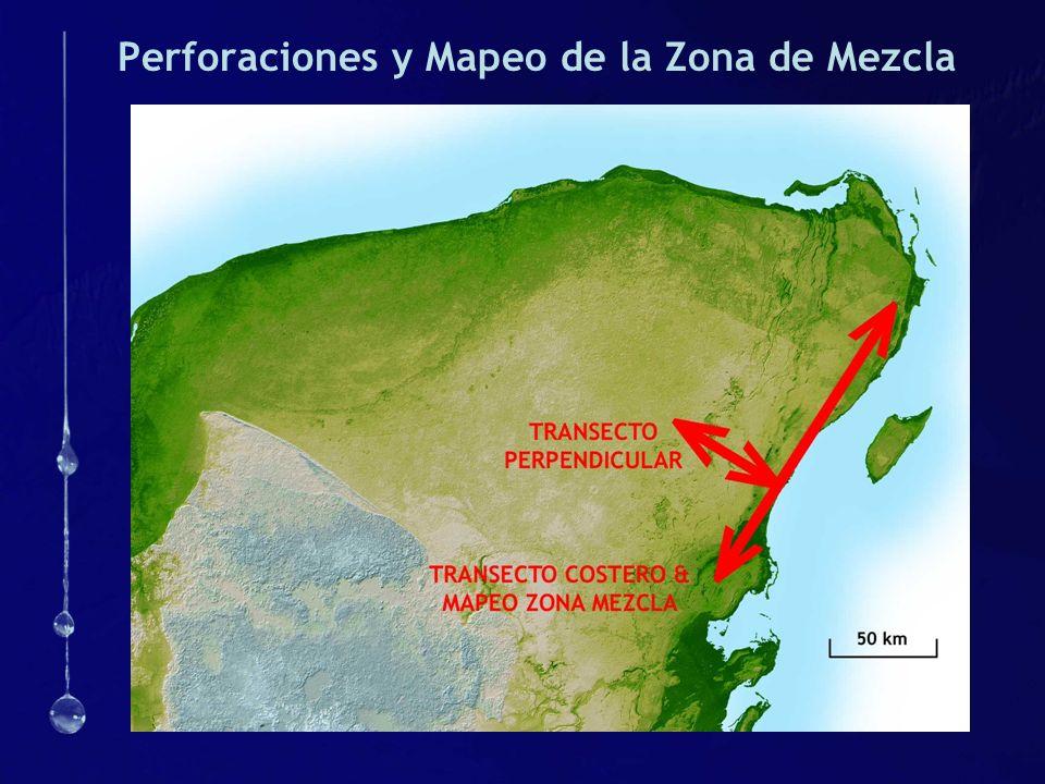 Perforaciones y Mapeo de la Zona de Mezcla