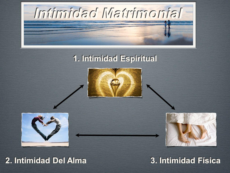 Intimidad Matrimonial 1. Intimidad Espiritual 2. Intimidad Del Alma 3. Intimidad Física