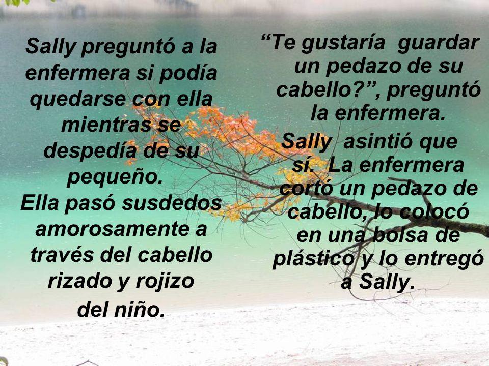 Sally preguntó a la enfermera si podía quedarse con ella mientras se despedía de su pequeño.