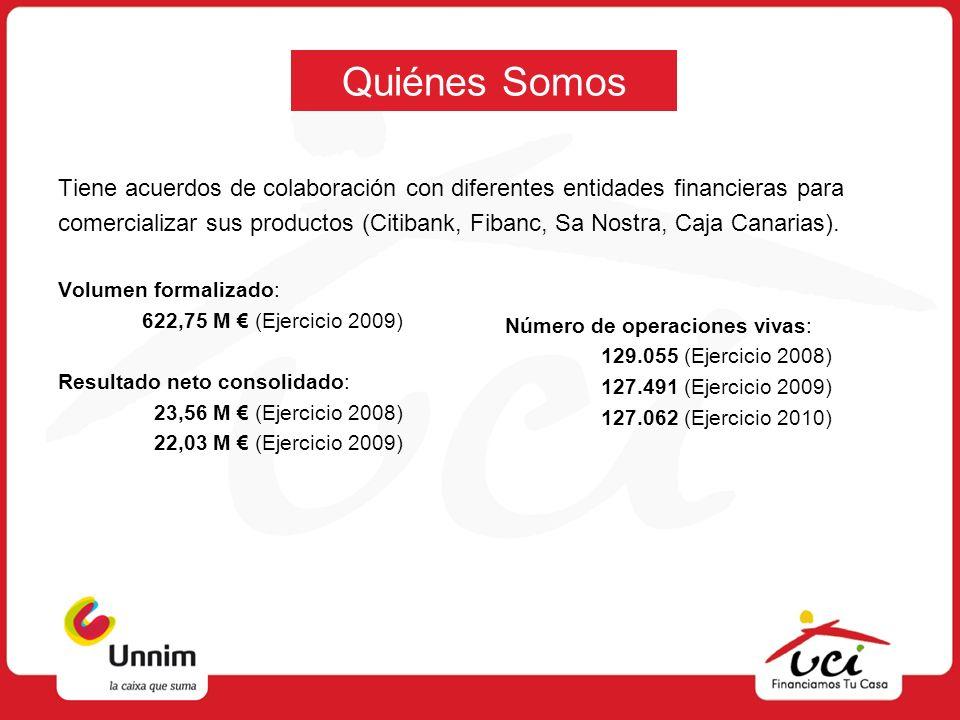 Quiénes Somos Tiene acuerdos de colaboración con diferentes entidades financieras para comercializar sus productos (Citibank, Fibanc, Sa Nostra, Caja