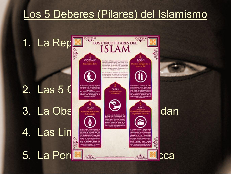 Los 5 Deberes (Pilares) del Islamismo 1. La Repetición del Credo 2. Las 5 Oraciones Diarias 3. La Observancia de Ramadan 4. Las Limosnas de Caridad 5.