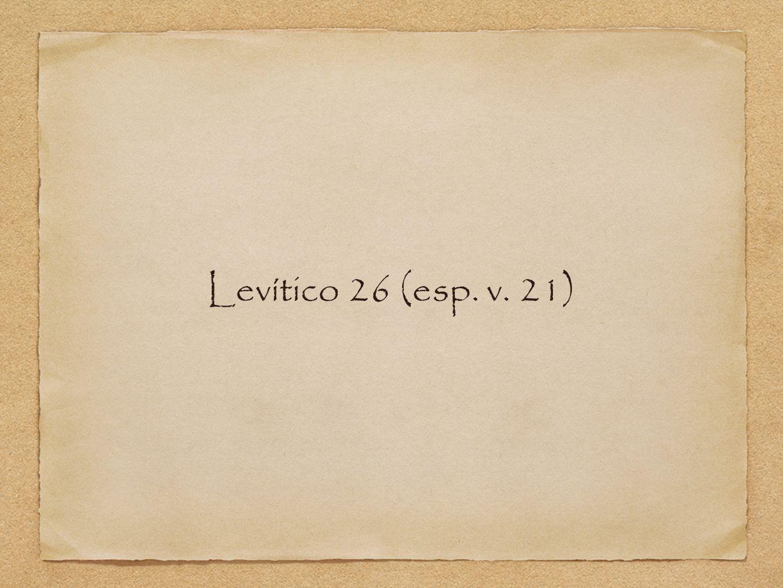 Levítico 26 (esp. v. 21)