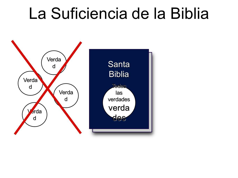 Holy Bible La Suficiencia de la Biblia Santa Biblia Todas las verdades verda des Verda d