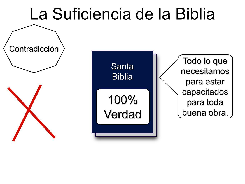 Holy Bible La Suficiencia de la Biblia Santa Biblia 100% Verdad Contradicción Todo lo que necesitamos para vivir como Dios manda. Todo lo que necesita