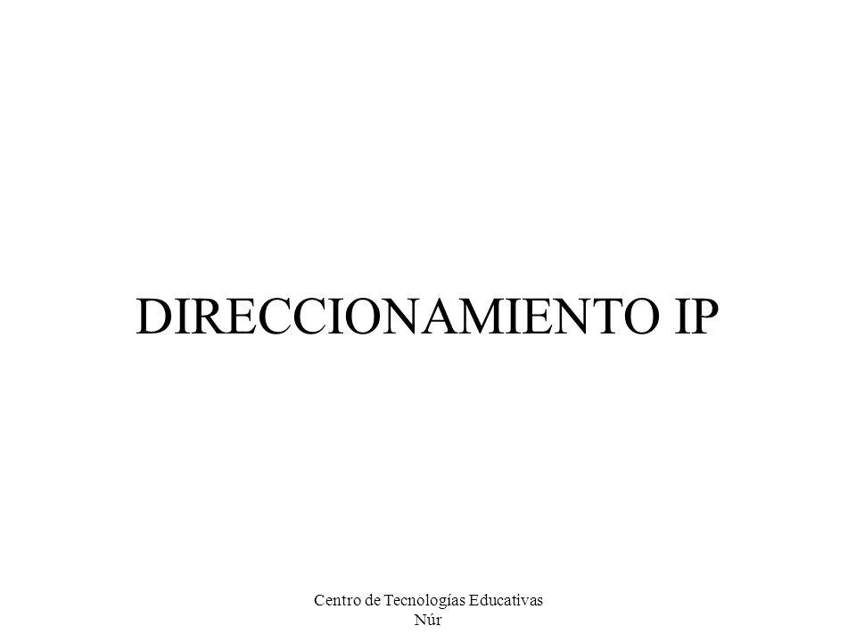 DIRECCIONAMIENTO IP Centro de Tecnologías Educativas Núr