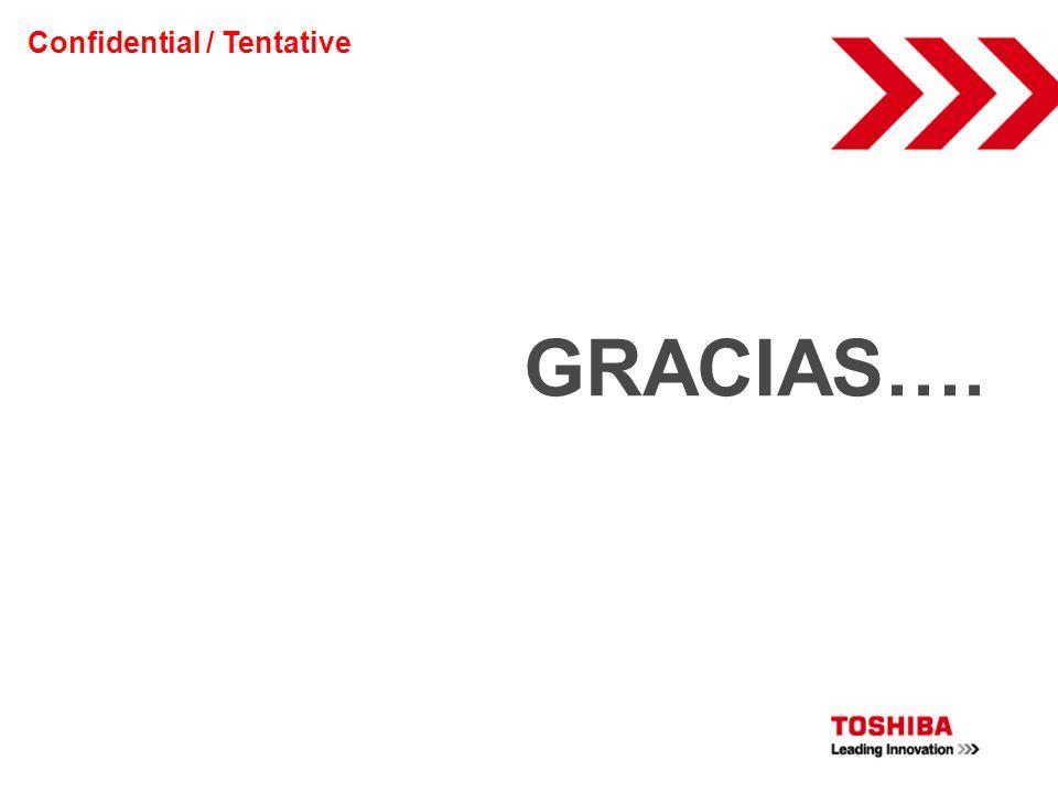 GRACIAS…. Confidential / Tentative