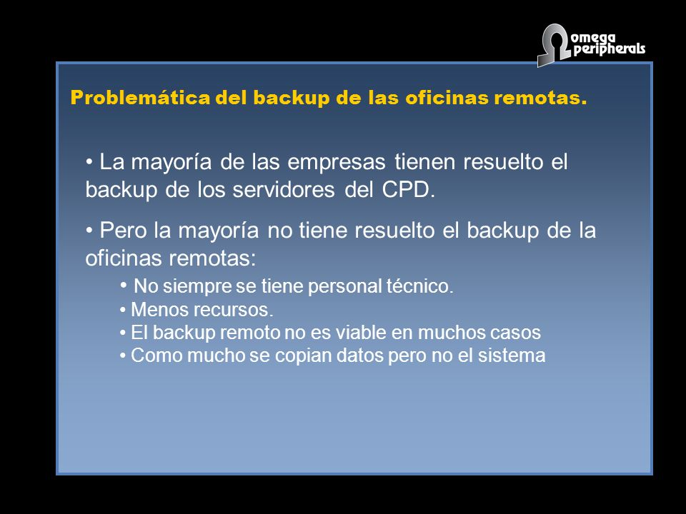 Backup de oficinas remotas WAN SQL EXCHANGE File Server Backup 1- Double-Take replica byte-a-byte a nivel escritura a disco.