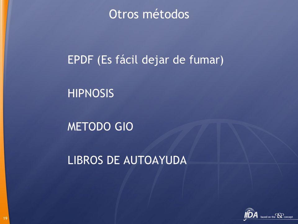 19 Otros métodos EPDF (Es fácil dejar de fumar) HIPNOSIS METODO GIO LIBROS DE AUTOAYUDA