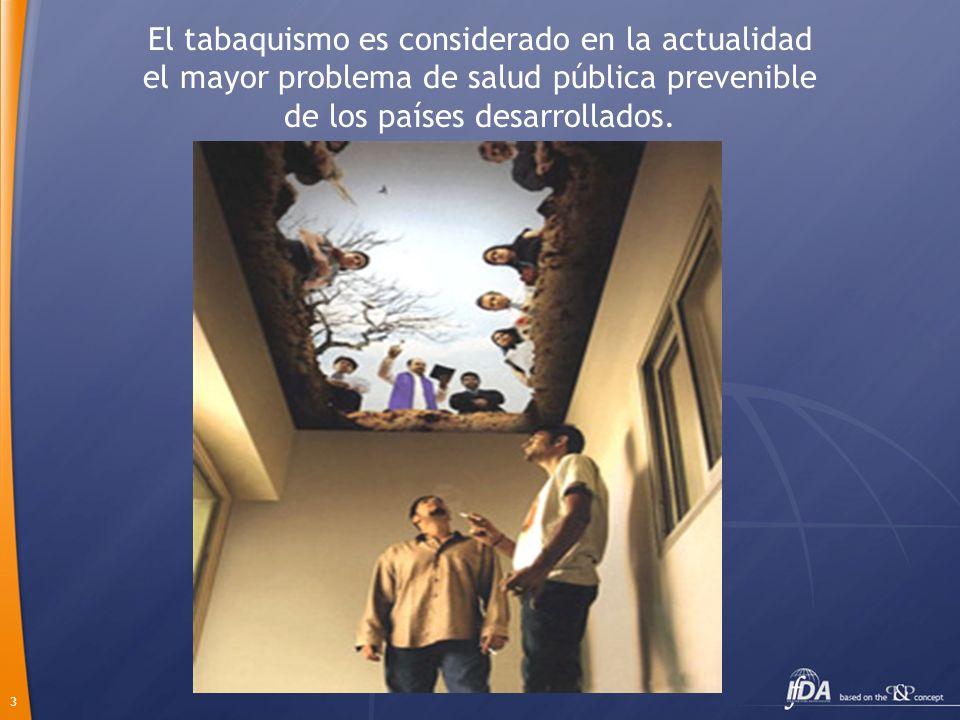 3 El tabaquismo es considerado en la actualidad el mayor problema de salud pública prevenible de los países desarrollados.