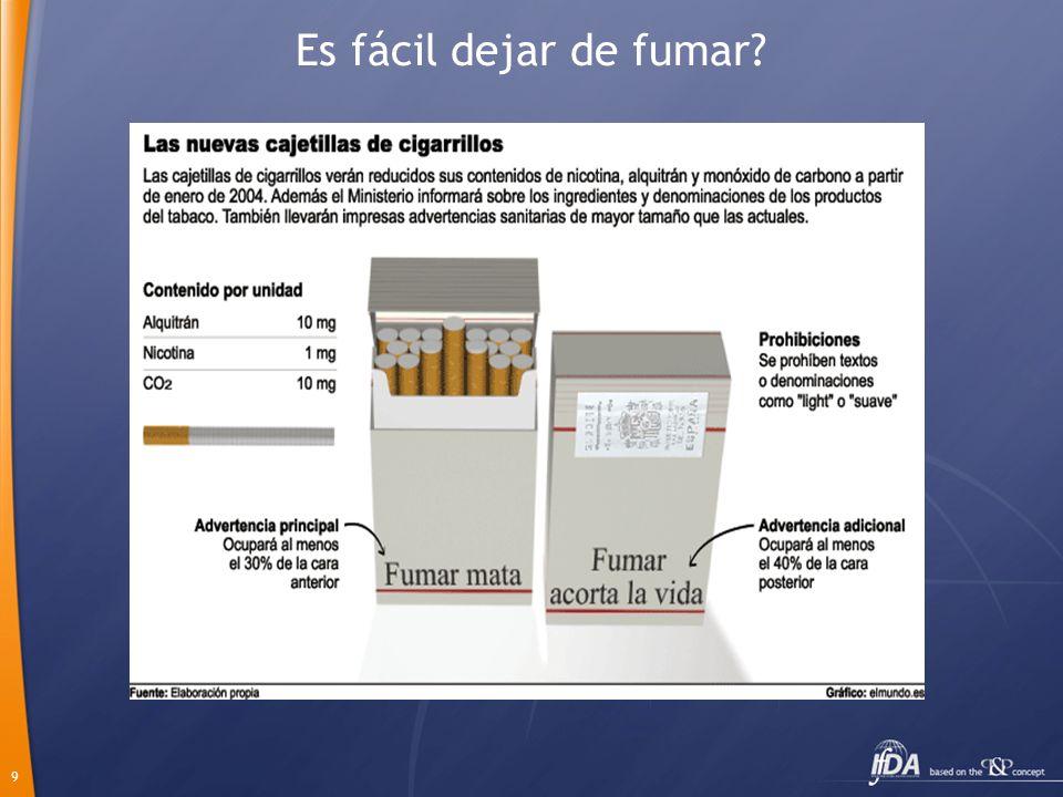 9 Es fácil dejar de fumar?