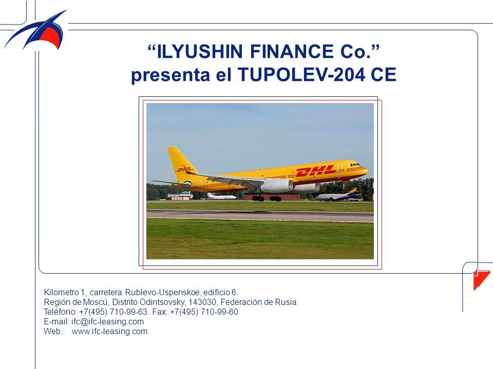El avión Тu-204 CE posee el certificado tipo No.