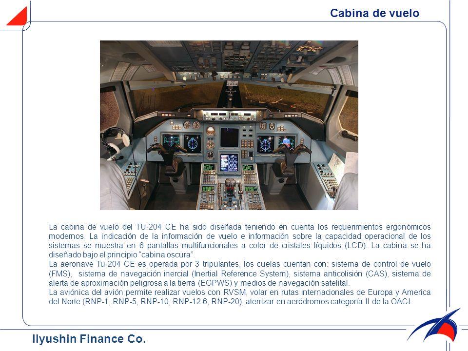 Cabina de vuelo La cabina de vuelo del TU-204 CE ha sido diseñada teniendo en cuenta los requerimientos ergonómicos modernos. La indicación de la info