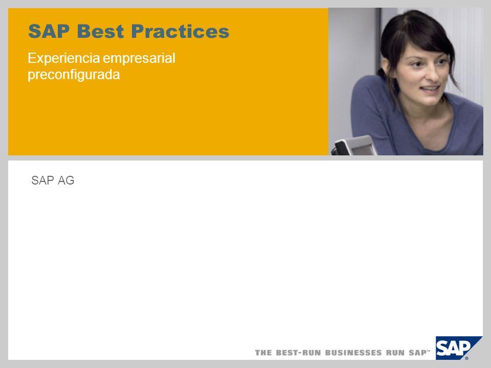 SAP Best Practices Experiencia empresarial preconfigurada SAP AG