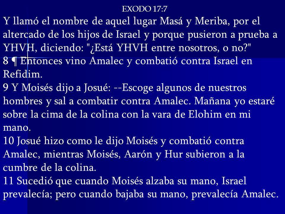 EXODO 17:7 Y llamó el nombre de aquel lugar Masá y Meriba, por el altercado de los hijos de Israel y porque pusieron a prueba a YHVH, diciendo: