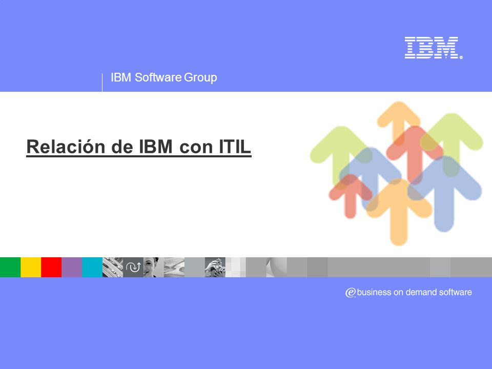 IBM Software Group ® Relación de IBM con ITIL