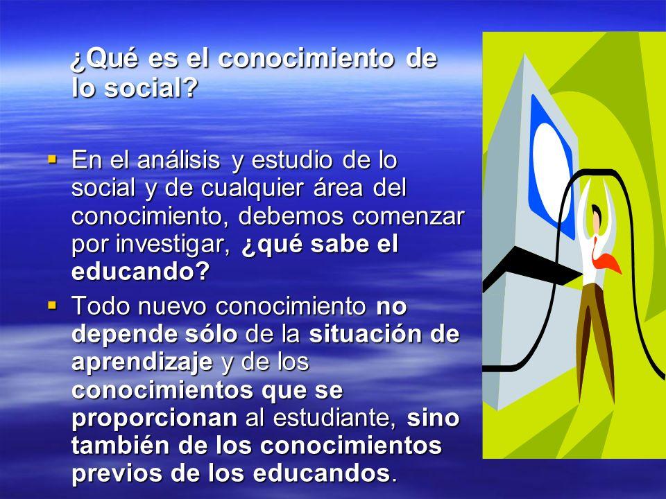 ¿Qué es el conocimiento de lo social? ¿Qué es el conocimiento de lo social? En el análisis y estudio de lo social y de cualquier área del conocimiento