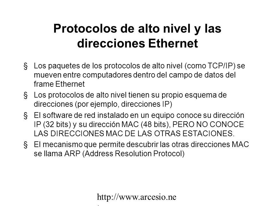 Direcciones Unicast, Multicast y Broadcast §Una dirección Unicast es aquella que identifica UNA sola estación. Las direcciones Unicast en Ethernet se
