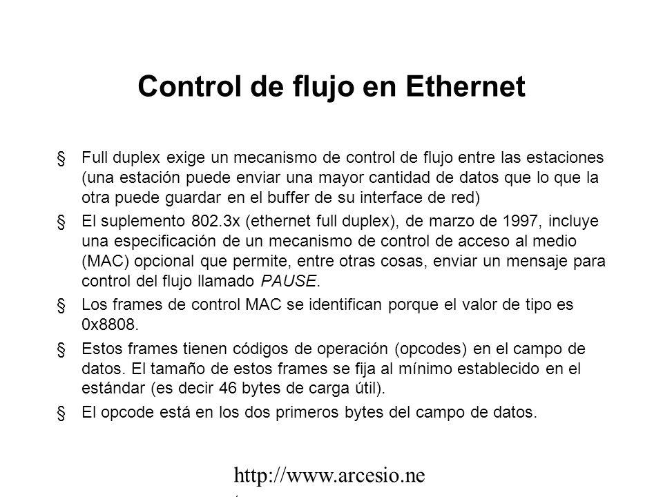 Ethernet full duplex §Full duplex se utiliza para enlaces entre switches o entre switch y servidor. Se puede utilizar también en un enlace a un equipo