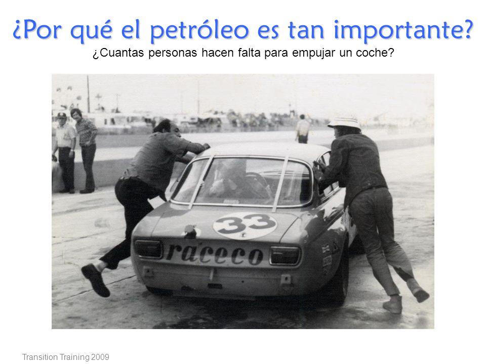 ¿Por qué el petróleo es tan importante? ¿Cuantas personas hacen falta para empujar un coche? Transition Training 2009