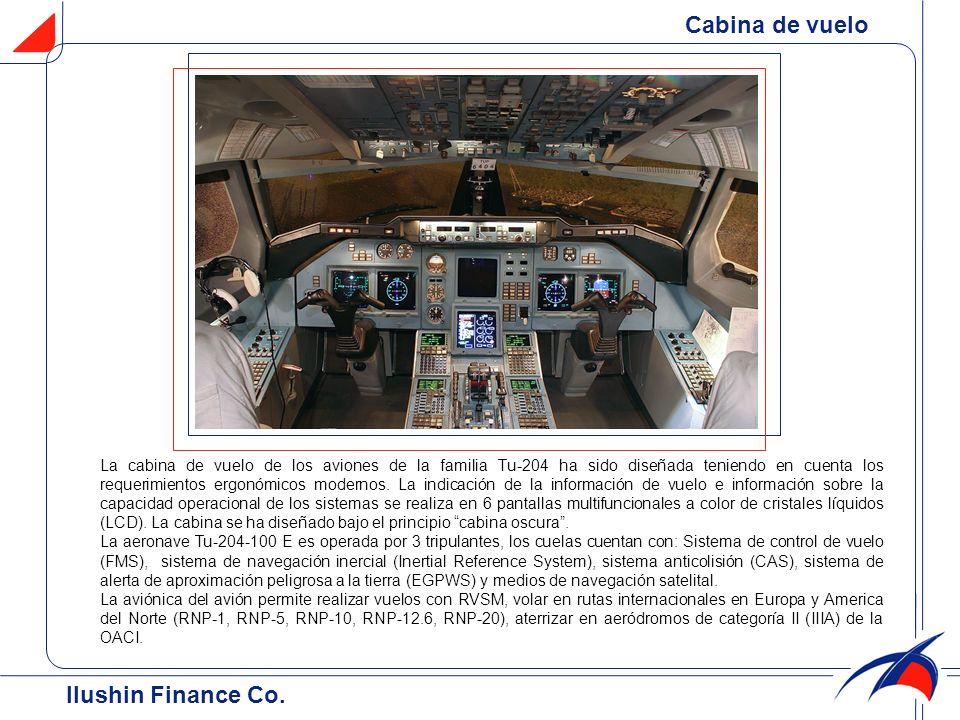 Cabina de vuelo La cabina de vuelo de los aviones de la familia Тu-204 ha sido diseñada teniendo en cuenta los requerimientos ergonómicos modernos. La
