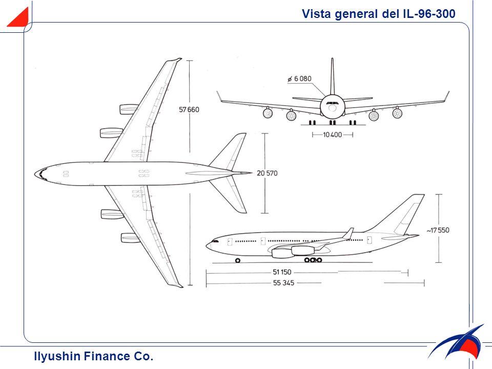 Vista general del IL-96-300 Ilyushin Finance Co.