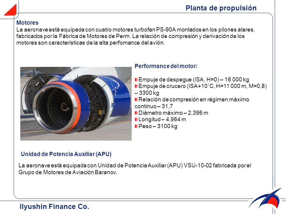 Unidad de Potencia Auxiliar (APU) La aeronave está equipada con Unidad de Potencia Auxiliar (APU) VSU-10-02 fabricada por el Grupo de Motores de Aviac