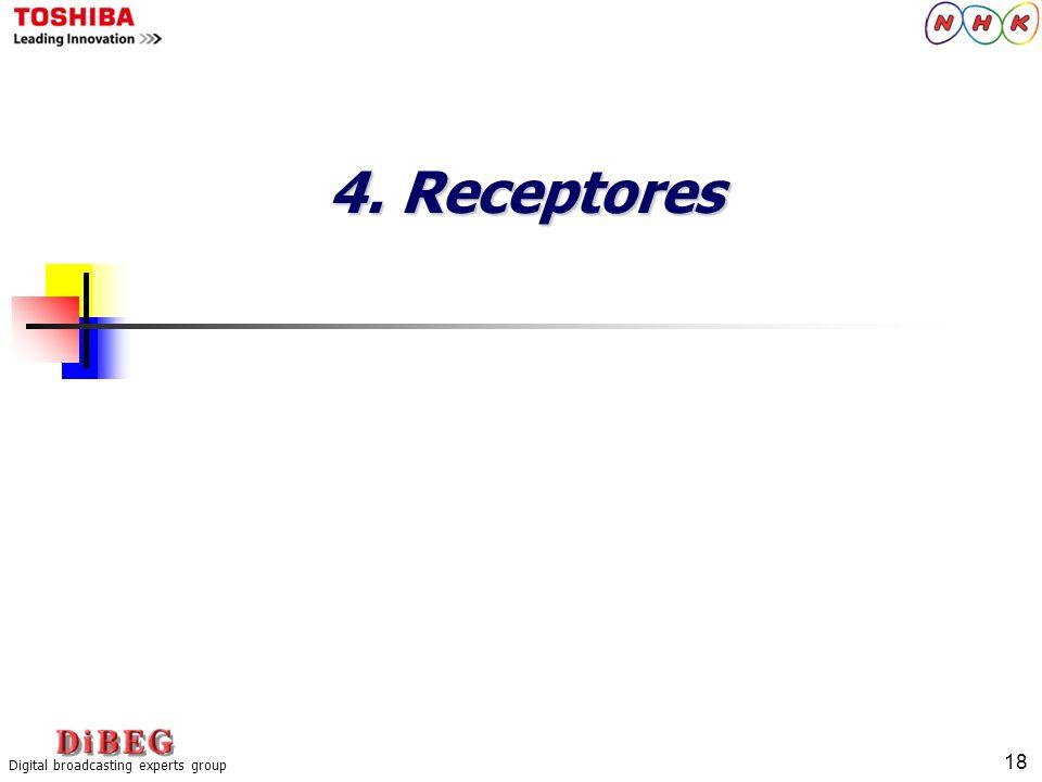 18 Digital broadcasting experts group 4. Receptores