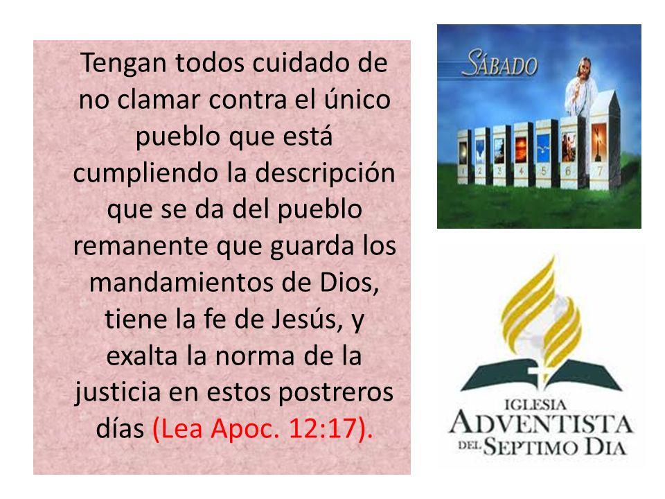 Dios tiene un pueblo distinto, una iglesia en la tierra, que no es inferior a otro alguno, sino superior a todos en su capacidad de enseñar la verdad y vindicar la ley de Dios.