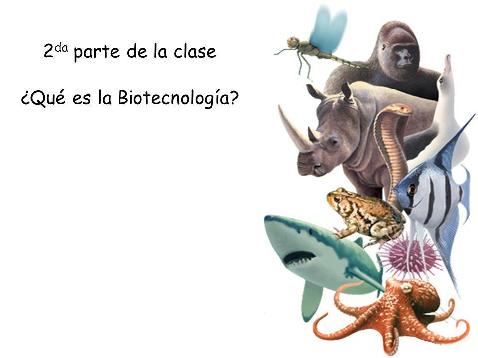 2 da parte de la clase ¿Qué es la Biotecnología?