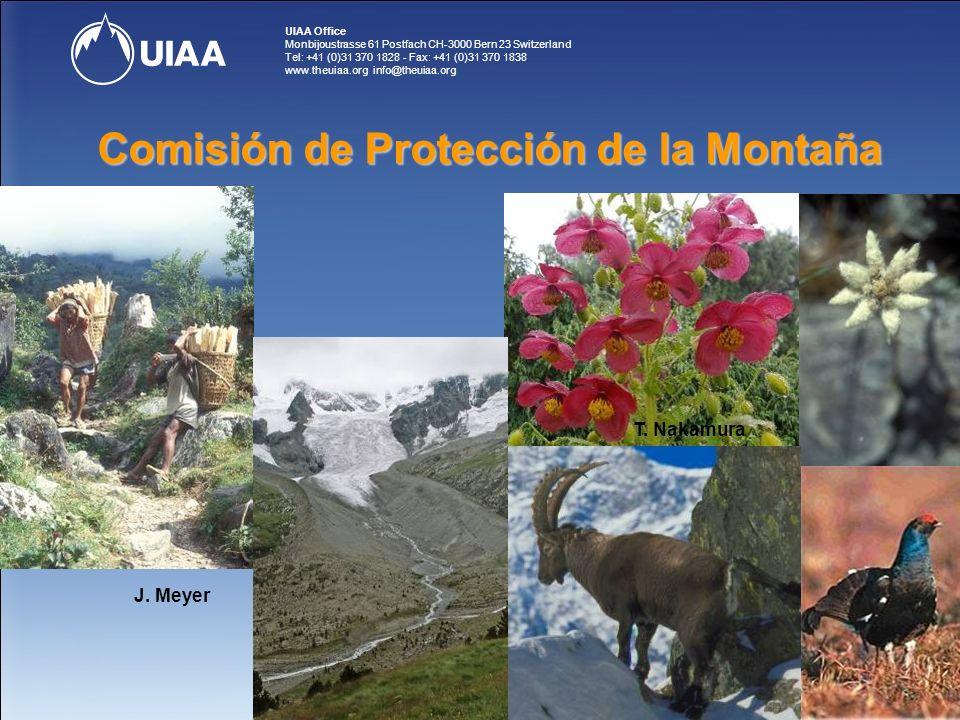 UIAA Office Monbijoustrasse 61 Postfach CH-3000 Bern 23 Switzerland Tel: +41 (0)31 370 1828 - Fax: +41 (0)31 370 1838 www.theuiaa.org info@theuiaa.org Comisión de Protección de la Montaña J.