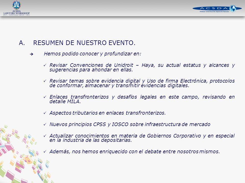 A.RESUMEN DE NUESTRO EVENTO.
