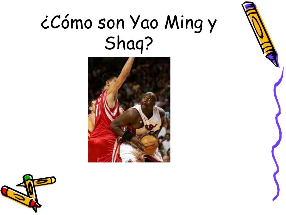 ¿Cómo son Yao Ming y Shaq?