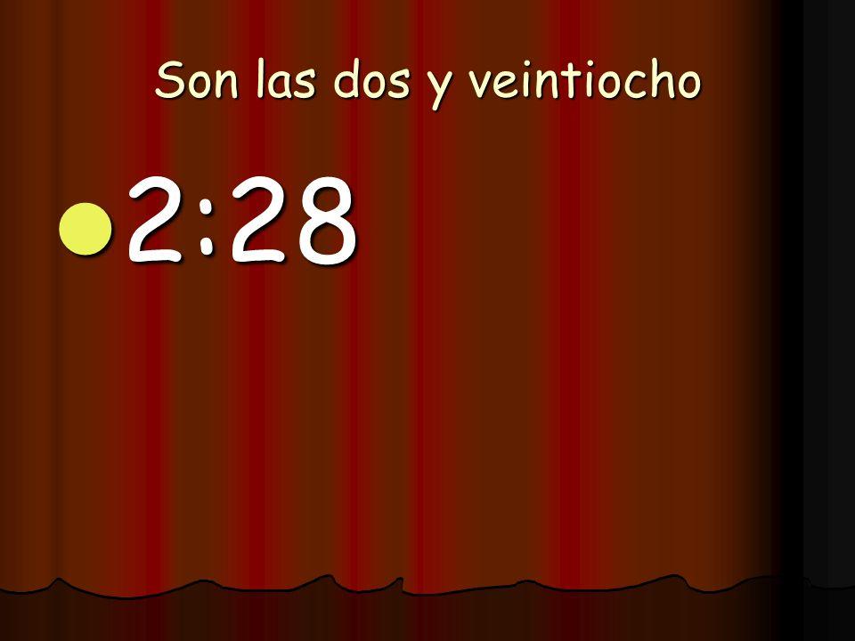 Es la una y cuarto 1:15 1:15