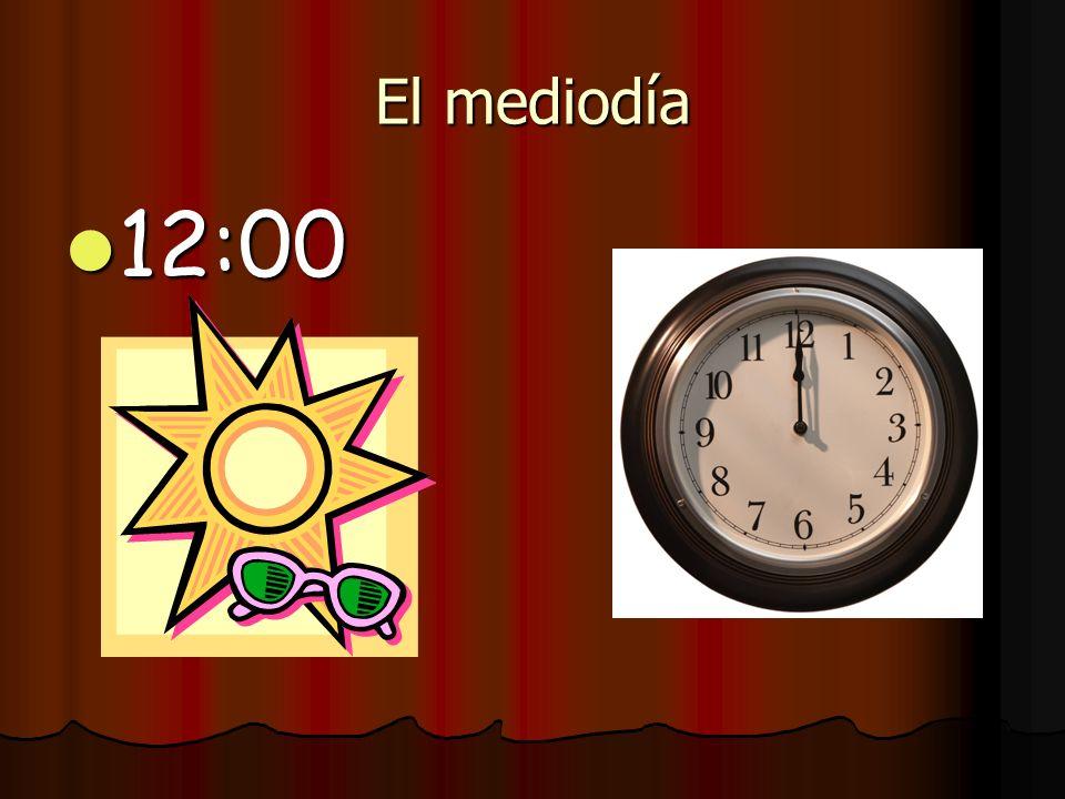 La medianoche 12:00 12:00