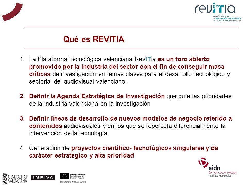 Qué es REVITIA 1.La Plataforma Tecnológica valenciana RevITia es un foro abierto promovido por la industria del sector con el fin de conseguir masa cr