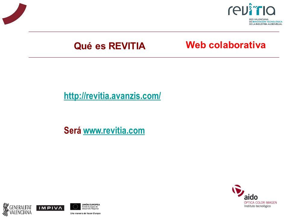 Qué es REVITIA http://revitia.avanzis.com/ Será www.revitia.comwww.revitia.com Web colaborativa